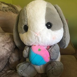 Other - Adorable Bunny Plush Holding a Cupcake